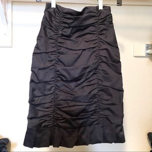 Rouged Pencil Skirt
